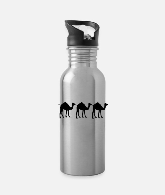 Camel Mugs & Drinkware - 3 Camel - Water Bottle silver