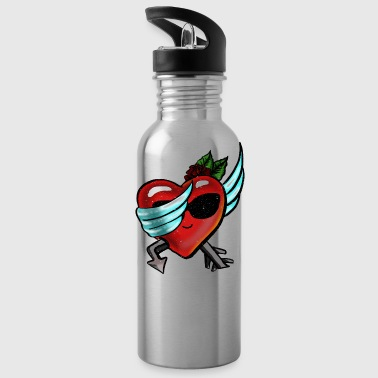 Retro Dabbing Heart valentines day gift for him - Cantimplora