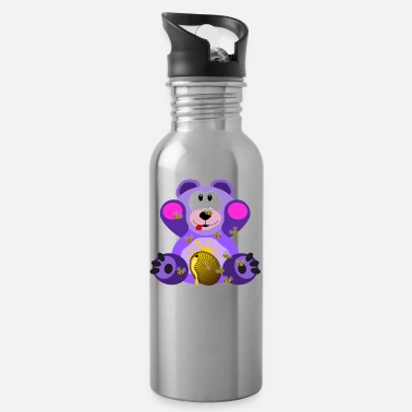 Teddybär mit Honig / Teddy bear with honey - Trinkflasche