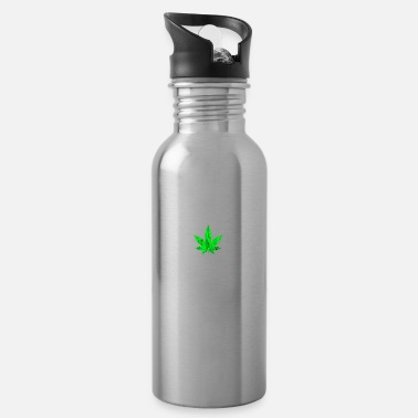 Rausch Cannabis leaf weed intoxication pothead smoking - Water Bottle