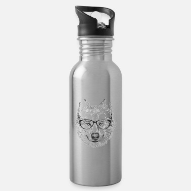 Wolf graphic, Animal print, Spirit Animal Tee - Water Bottle