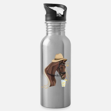 Fancy Horse Funny Gift Design Idea for Horse Fans - Water Bottle