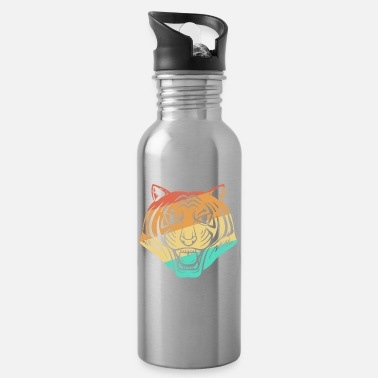 Indochinese Tiger big cat predator leopard retro - Water Bottle