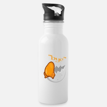 Person Egg Funny Bye Troubled Funny Person Gift - Water Bottle