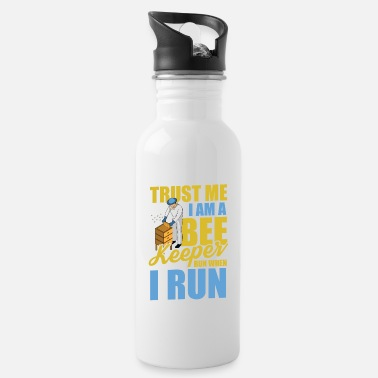 Pollinate Trust me I am a beekeeper, run when I run - Water Bottle