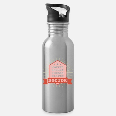 Coffe Scrubs Rubber Cloves - Doctor - Water Bottle