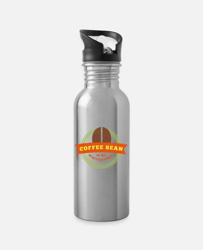 Barista Mugs & Drinkware - Coffee Bean - Barista - Water Bottle silver