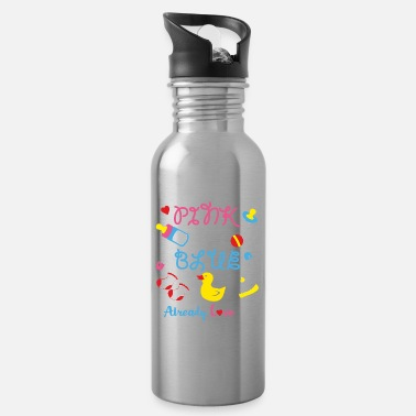 I-love-the-blues Pink Or Blue I Already Love You Gender Reveal Cute - Trinkflasche