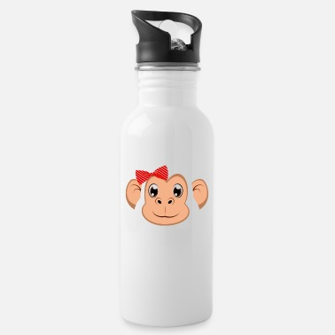 Easy Floral Monkey Animal Halloween Costume Gift - Water Bottle