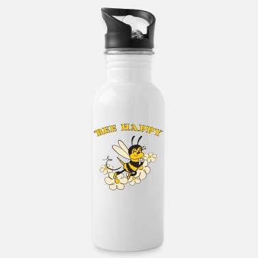 Bee Happy Cute Bee For Kids For Women For Men Be H - Water Bottle