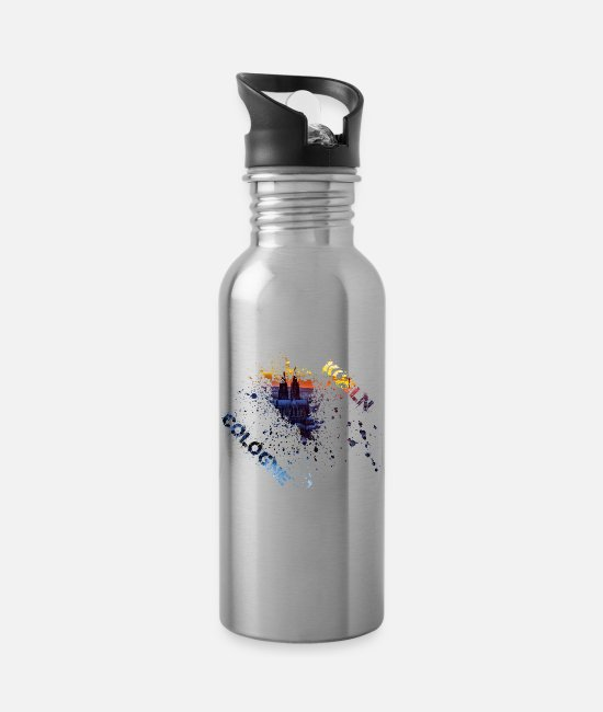 Cathedral Square Mugs & Drinkware - Cologne splash - Water Bottle silver