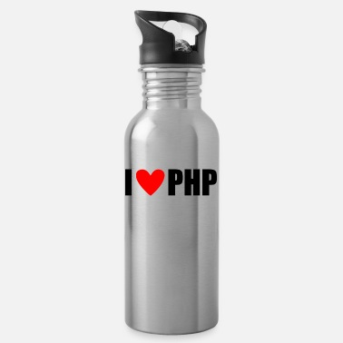 Php I LOVE PHP - Water Bottle