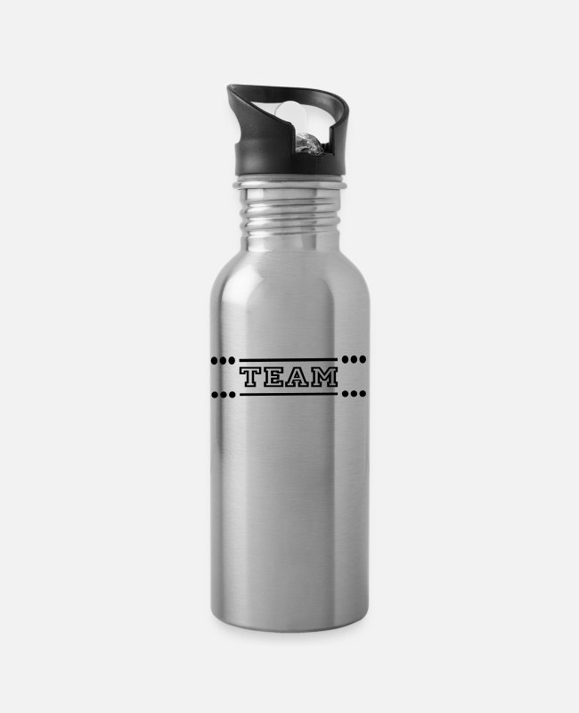 Team Work Mugs & Drinkware - team - Water Bottle silver