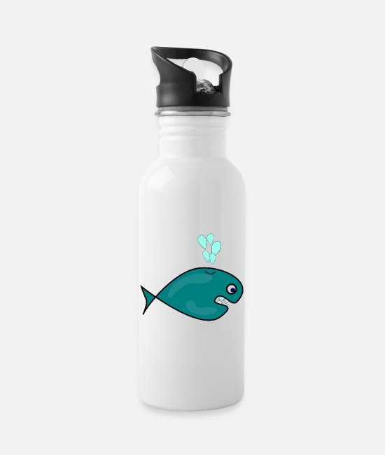 Diver Mugs & Drinkware - whale42 - Water Bottle white