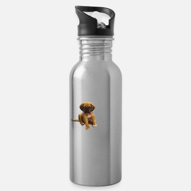 Melt saying :wuf,wuf,wuf design ,sweet dog - Water Bottle