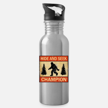 Hide and Seek Champion Funny Bigfoot Lover UFO - Water Bottle