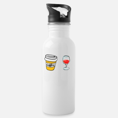 at pm coffee coffee wine shirt gift idea - Water Bottle