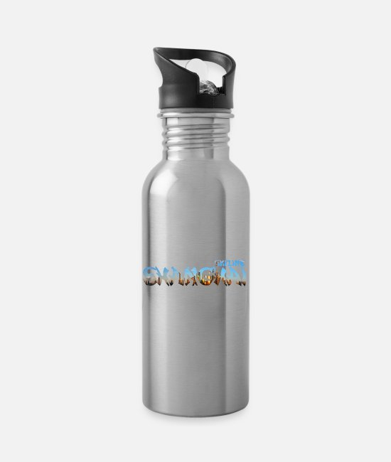 Epidemic Mugs & Drinkware - Shanghai skyline - Water Bottle silver