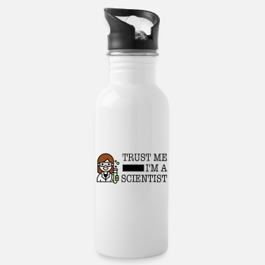 Trust me I'm a scientist female - Water Bottle