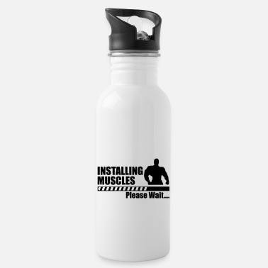 Gym Funny gym - Installing Muscle - Water Bottle