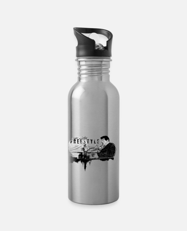 Freestyle Mugs & Drinkware - Freestyle jazz - Water Bottle silver