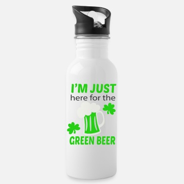 Green Beer Here for green beer - Water Bottle