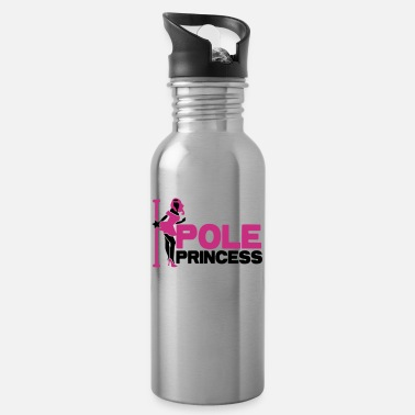 Dance pole princess with dancing lady and a pole in high - Water Bottle