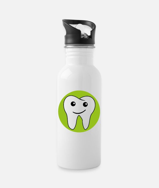 Toothpaste Mugs & Drinkware - Tooth shirt - Water Bottle white