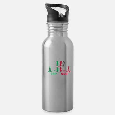 Italian Heart rate espresso design / gift idea - Water Bottle
