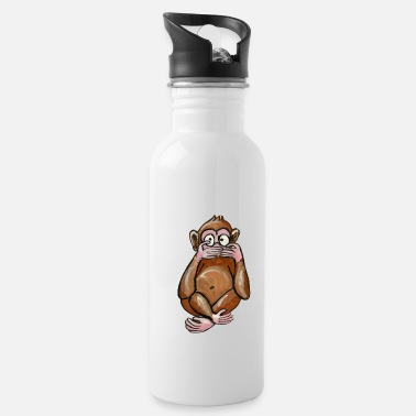 Stomme dumb monkey - dumb monkey - dummer affe - scimmia - Water Bottle