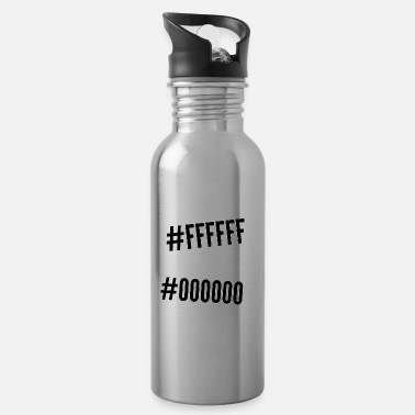 This is the inscription on #ffffff # 000000 bekgrałndzie - Water Bottle