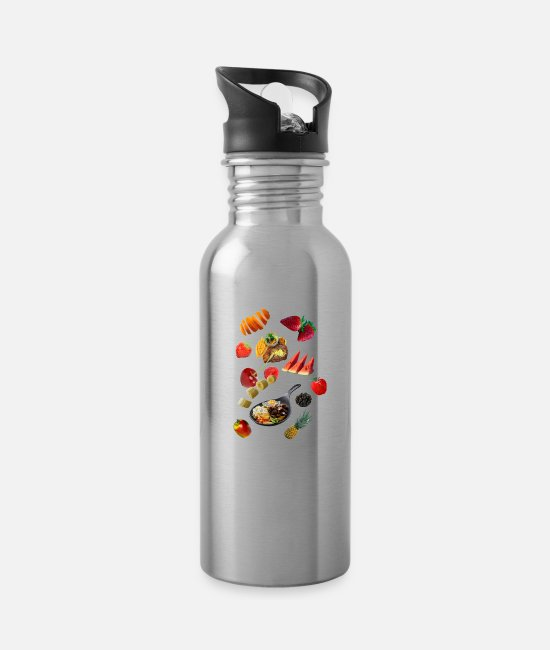 BBQ Mugs & Drinkware - Food - Water Bottle silver