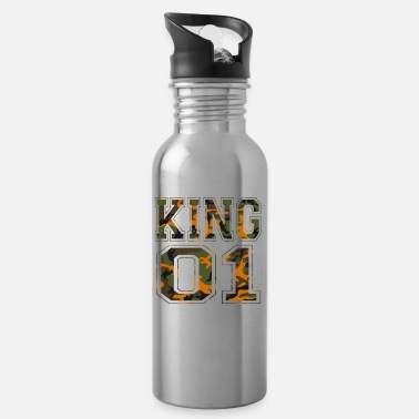 King 01 camouflage king - Water Bottle