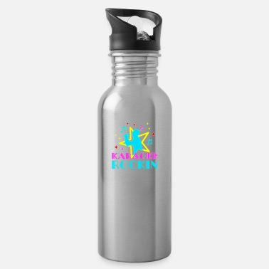Text Karaoke rockin 'design for singing fans - Water Bottle