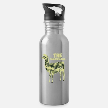 Camoflage The Camoufllama - Funny Camoflage Llama Gifts - Water Bottle