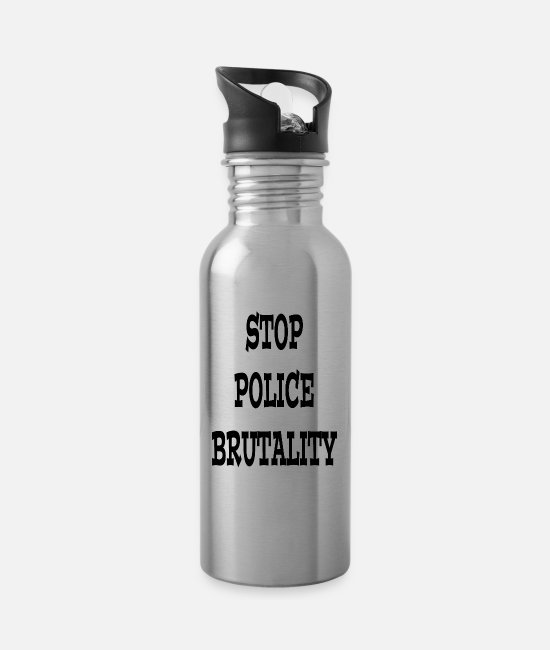Injustice Mugs & Drinkware - Stop police brutality - Water Bottle silver