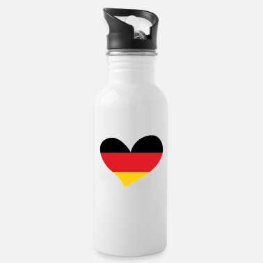 Flag Of Germany Germany, German Flag Heart, I Love Germany - Water Bottle
