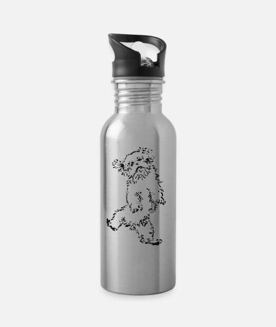 Dog Dancing Mugs & Drinkware - Jumpin died - Water Bottle silver
