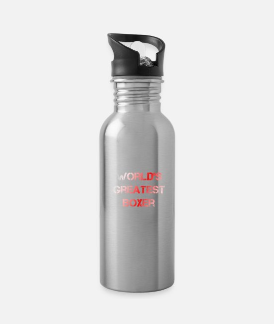 Fighter Mugs & Drinkware - boxer - Water Bottle silver