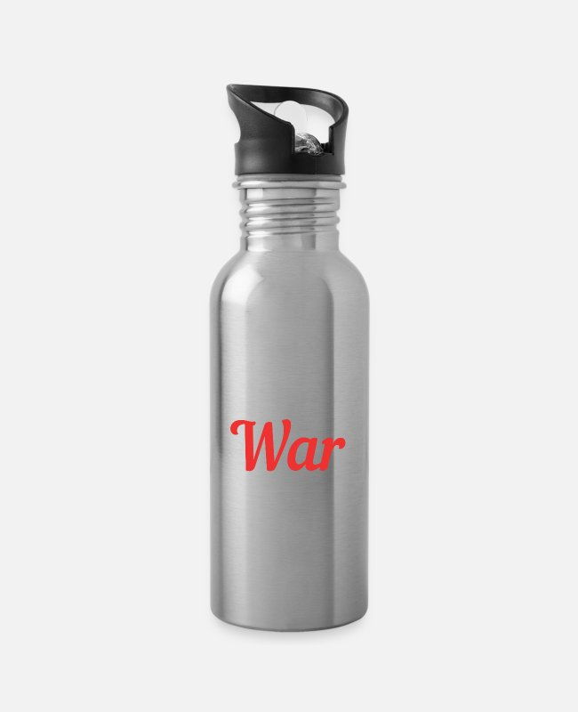 Army Mugs & Drinkware - Love Peace Peace Peace - Water Bottle silver