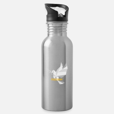 Dove of Peace - Peace and Freedom, World Peace - Water Bottle