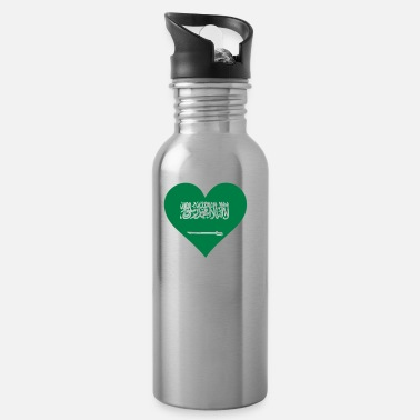 King Salman A Heart For Saudi Arabia - Water Bottle