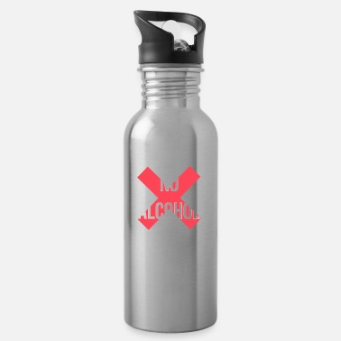 Alcohol No Alcohol No Alcohol Alcohol ban - Water Bottle