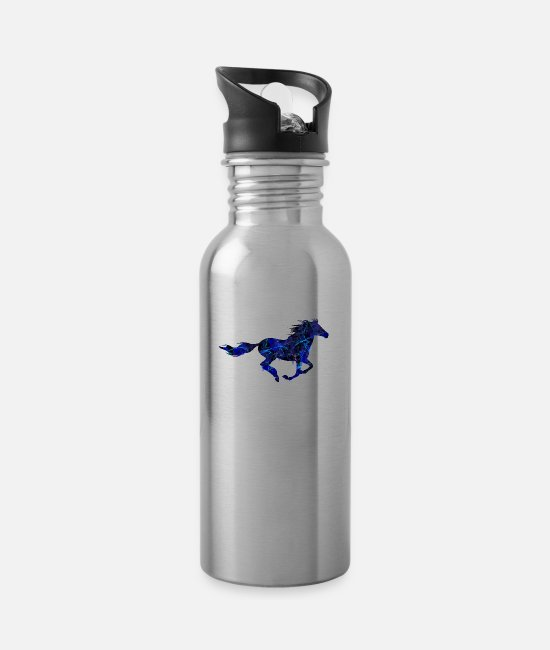 Horse Racing Mugs & Drinkware - Wilders horse galloping - Water Bottle silver