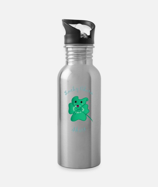 Money Mugs & Drinkware - lucky charm - Water Bottle silver