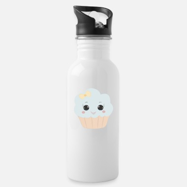 Beady Eyes Cute muffin with ribbon button eyes gift - Water Bottle