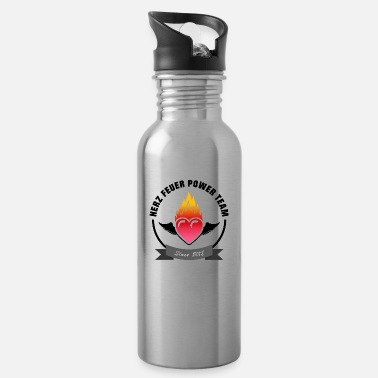 Heart fire power team - Water Bottle