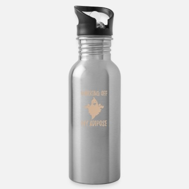 Training Working off my adipose Gym Fitness Geschenk Sport - Trinkflasche