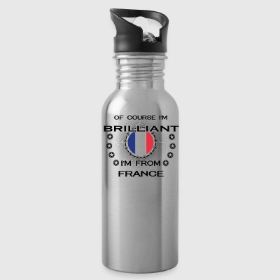 I AM GENIUS BRILLIANT CLEVER FRANCE - Water Bottle
