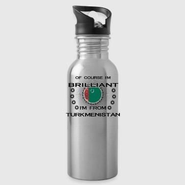 I AM GENIUS BRILLIANT CLEVER TURKMENISTAN - Water Bottle